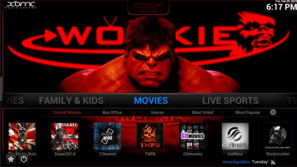 Wookie kodi build
